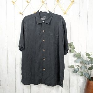 Tommy Bahama Black Button Down Shirt